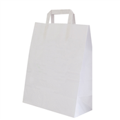Picture of Handled Plain White Paper Carrier - 11718