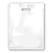 Picture of White Punch Handle Carrier Bags Medium - 22/D10