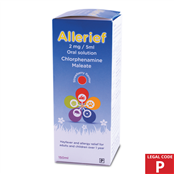 Picture of Allerief Syrup 2mg/5ml 150ml - 2892008