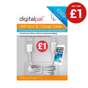 Picture of 1m Sync & Charge iPhone 5&6 C/S PMP £1 - 312663