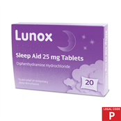 Picture of Lunox Sleep Aid Tablets 25mg (P) - 4040879