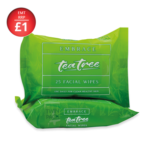 Picture of Embrace F/Wipes Tea Tree 25's Twin Pack - 4059473