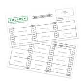 Picture of PillBook Extra Large Paper Inserts - FPXL