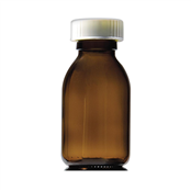 Picture of 100ml Capped Round Glass Bottles - GE100