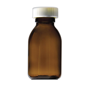 Picture of 200ml Capped Round Glass Bottles - GE200