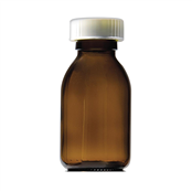 Picture of 300ml Capped Round Glass Bottles - GE300