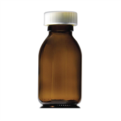 Picture of 60ml Capped Round Glass Bottles - GE60