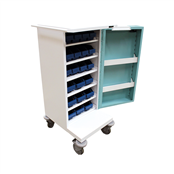Picture of 21 TRAY COMPACT UNIT DOSAGE TROLLEY - HECT501