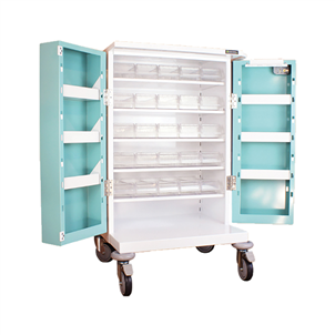 Picture of 25 TRAY COMPACT UNIT DOSAGE TROLLEY - HECT650