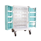 Picture of 30 TRAY COMPACT UNIT DOSAGE TROLLEY - HECT655